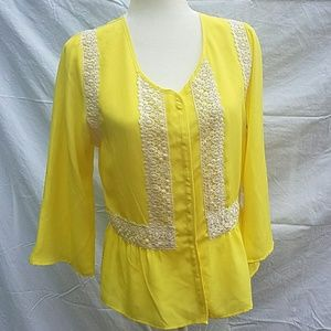 stitch fix collective concepts bright yellow Med.